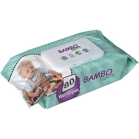 Bambo Nature Lingettes Bébé Sans Parfum (Paquet de 80)