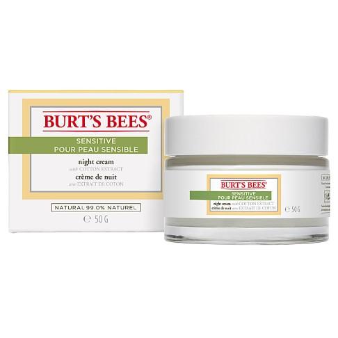 Burt's Bees - Crème de Nuit - Gamme Sensitive