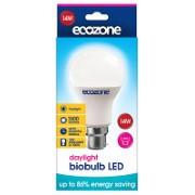 Ecozone Ampoule à Baïonnette Biobulb LED B22 Lumière du Jour 14 watts