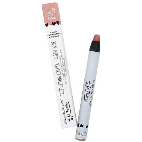 Beauty Made Easy Le Papier Rouge à Lèvres Brillant Hydra Sans Plastique - DUSTY ROSE