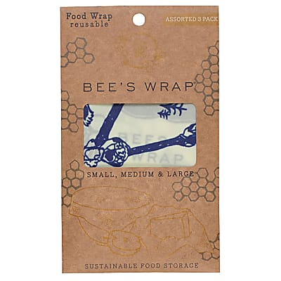 Bee's Wrap, Assortiment 'Bees&Bears' Petite+Moyenne+Large