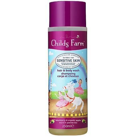 Childs Farm Gel Douche Corps & Cheveux Mûre et Pomme Bio