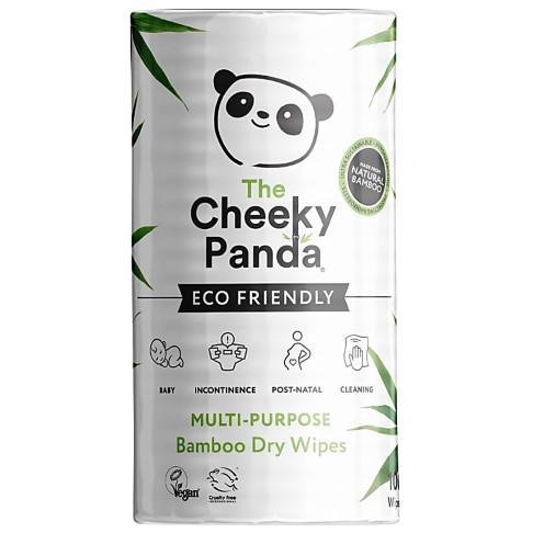 The Cheeky Panda Lingettes Sèches en Bambou Sans Plastique (100 lingettes)