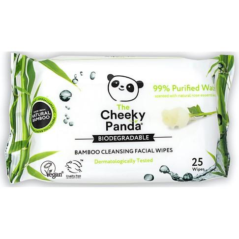 Cheeky Panda Lingettes Démaquillantes - Parfum de Rose