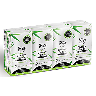 The Cheeky Panda Bamboo Mouchoirs Pocket (8 étuis)
