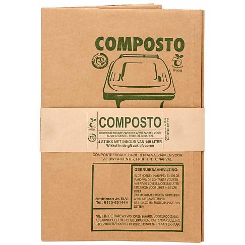 Composto Sacs Compostables 140 L (4 sacs)