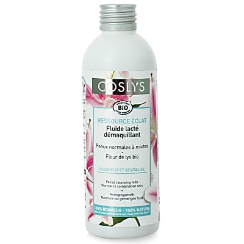 Coslys Fluide Lacté Démaquillant - Ressource Éclat Fleur de Lys Bio
