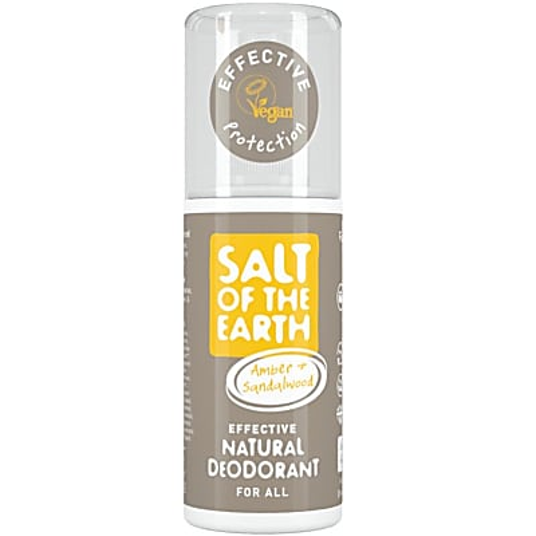 Crystal Spring Salt of the Earth Déodorant Spray Ambre & Bois de Santal