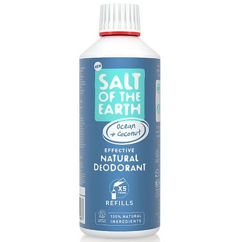 Crystal Spring Salt of the Earth Déodorant Spray Océan & Noix de Coco Recharge