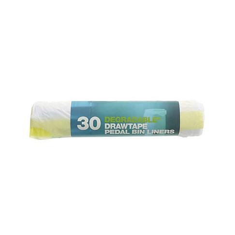 D2W - 20 Litres Sacs Dégradables avec Lien Coulissant