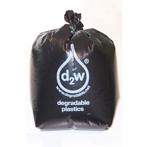 D2W - Boîte de 200 Sacs à Ordures Biodégradables Noirs