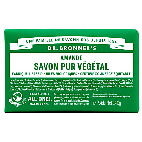 Dr. Bronner's - Savon Solide de Castille - Amande