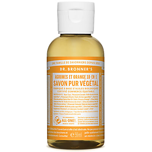 Dr. Bronner's - Savon Liquide de Castille - Agrumes et Orange - 59ml