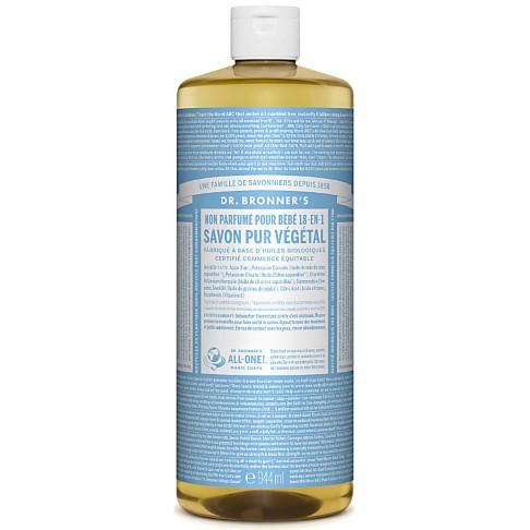 Dr. Bronner's - Savon Liquide de Castille Sans Parfum pour Bébé - 946ml