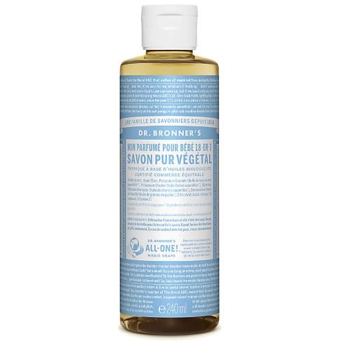 Dr. Bronner's - Savon Liquide de Castille Sans Parfum pour Bébé - 236ml