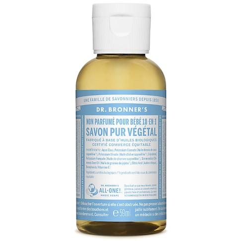 Dr. Bronner's - Savon Liquide de Castille bébé - Sans parfum - 59ml