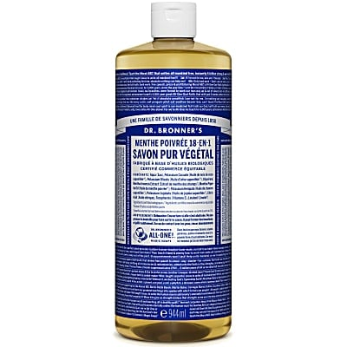 Dr. Bronner's - Savon Liquide de Castille - Menthe poivrée - 946ml