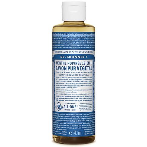 Dr. Bronner's - Savon Liquide de Castille - Menthe poivrée - 236ml