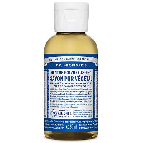 Dr. Bronner's - Savon Liquide Menthe Poivrée - 59ml