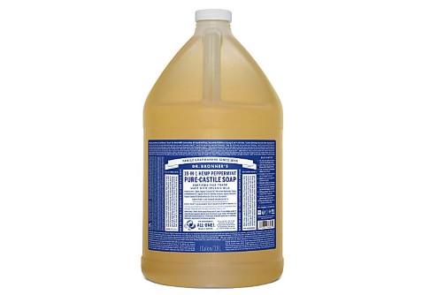 Dr. Bronner's - Savon Liquide de Castille - Menthe poivrée - 3.78L