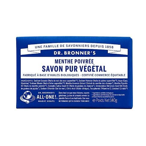 Dr. Bronner's - Savon Solide de Castille - Menthe Poivrée