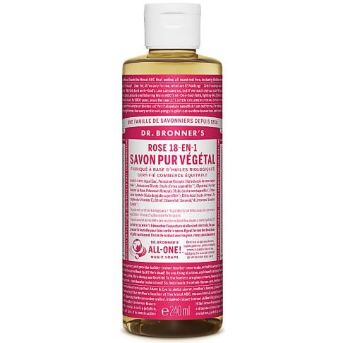 Dr. Bronner's - Savon Liquide de Castille - Rose - 236ml