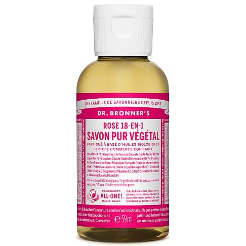 Dr. Bronner's - Savon Liquide de Castille - Rose - 59ml