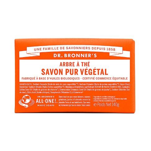 Dr. Bronner's - Savon Solide de Castille - Arbre à Thé