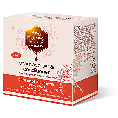 De Traay Bee Honest Shampooing & Après-Shampooing Solide Bergamote & Cire d'abeille