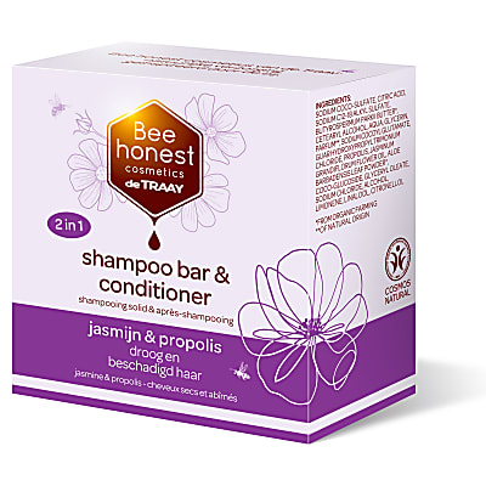De Traay Bee Honest Shampooing & Après-Shampooing Solide Jasmin & Propolis