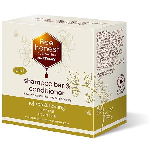 De Traay Bee Honest Shampooing & Après-Shampooing Solide Jojoba & Miel