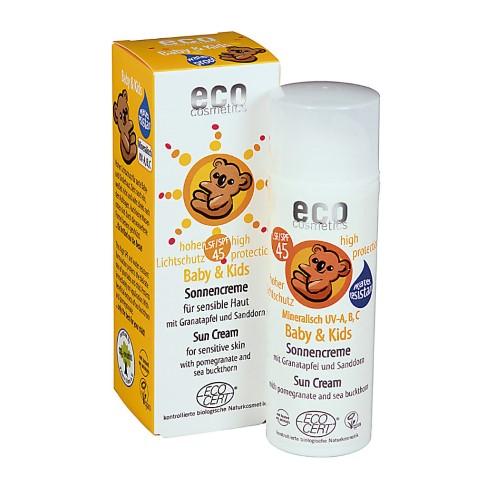 Eco Cosmetics - Crème Solaire Bébé - Indice 45
