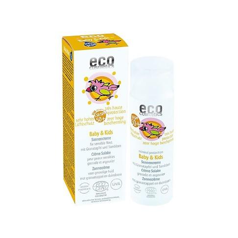 Eco Cosmetics - Crème Solaire Bébé - Indice 50