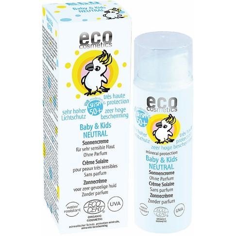 Eco Cosmetics Crème Solaire Neutre Très Haute Protection Bébés SPF 50+