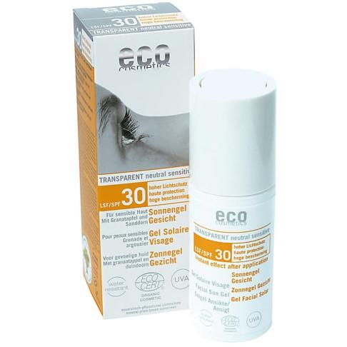 Eco Cosmetics - Gel Solaire Visage - Indice 30