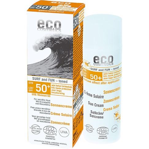 "Eco Cosmetics Crème Solaire Teintée Indice 50+ ""Surf & Fun"""