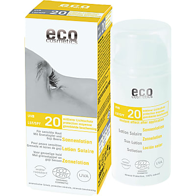Eco Cosmetics Crème Solaire Protection Moyenne Indice 20