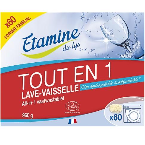 Etamine Du Lys Tablettes Lave-Vaisselle Tout-en-Un (60 tablettes)