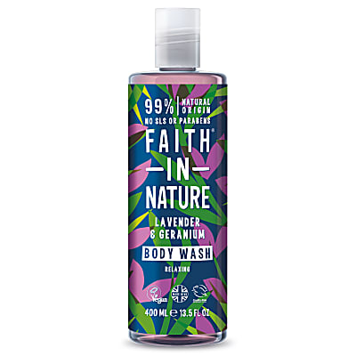 Faith in Nature Gel Douche et Bain à la Lavande & Géranium