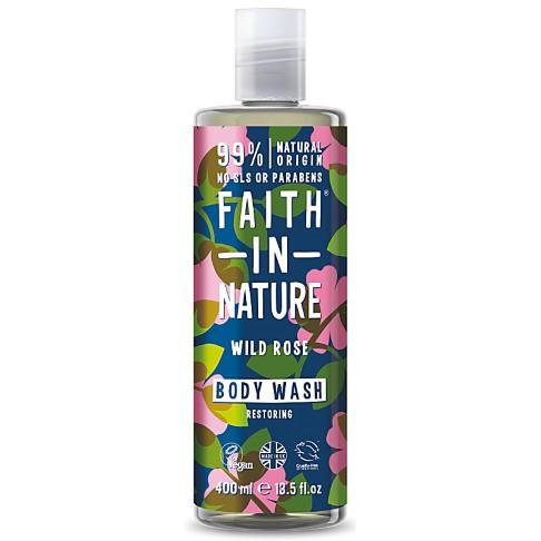 Faith in Nature Gel Douche à la Rose Sauvage