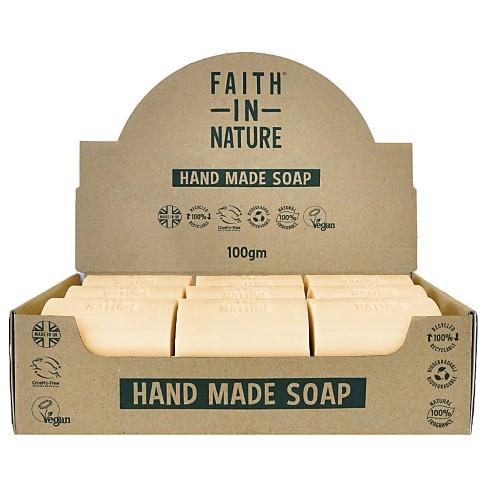 Faith in Nature Boîte de 18 Savons Naturels à l'Orange - Non Emballés