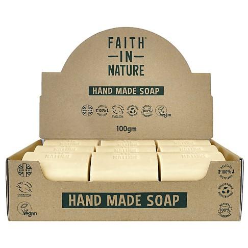 Faith in Nature Boîte de 18 Savons Naturels Sans Parfum - Non Emballés