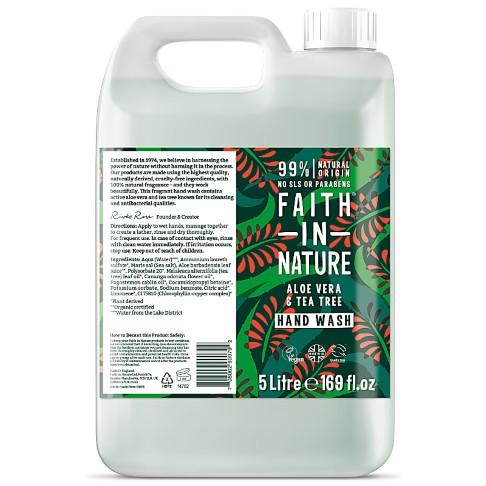 Faith in Nature Savon Main Liquide à l'Aloe Vera & Arbre à Thé - 5 L