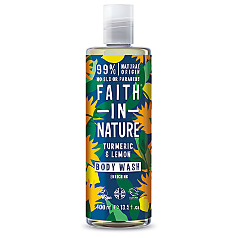 Faith in Nature Gel Douche & Bain au Curcuma & Citron