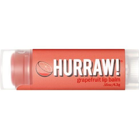 Hurraw - Baume à Lèvres - Pamplemousse Rose - 4,3 g