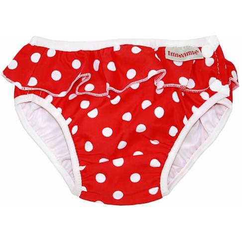 ImseVimse Maillot de Bain Couche Lavable - Red Dots