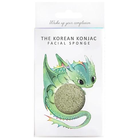 Konjac Mythique Éponge Dragon Avec Crochet - Argile Verte