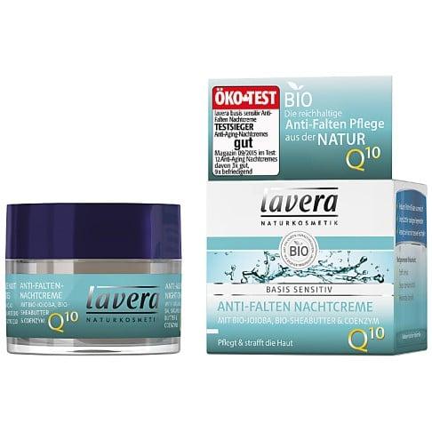 Lavera Basis Sensitiv Crème de Nuit Anti-Rides Q10
