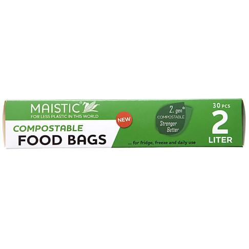 Maistic 2.Gen Sacs Alimentaires Compostables 2Ltr (30 sacs)
