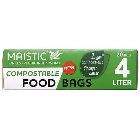 Maistic 2.Gen Sacs Alimentaires Compostables 4Ltr (20 sacs)